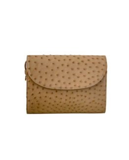 Ladies Ostrich Leather Clutch Purse