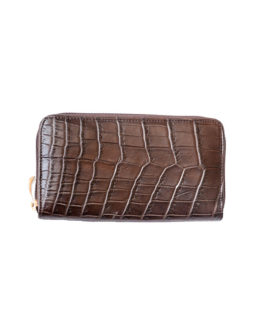 Crocodile Leather Purse ZIP