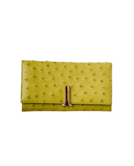 LIME OSTRICH LEATHER PURSE