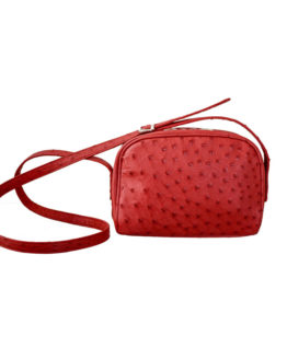 RED OSTRICH LEATHER BAG